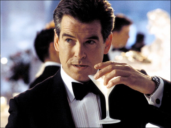Pierce Brosnan with his martini in Die Another Day