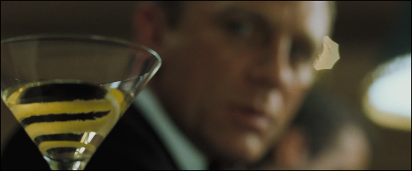 Daniel Craig and his (poisoned) martini in Casino Royale