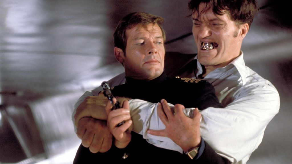 Sir Roger Moore and Richard Kiel in The Spy Who Loved Me (1977)