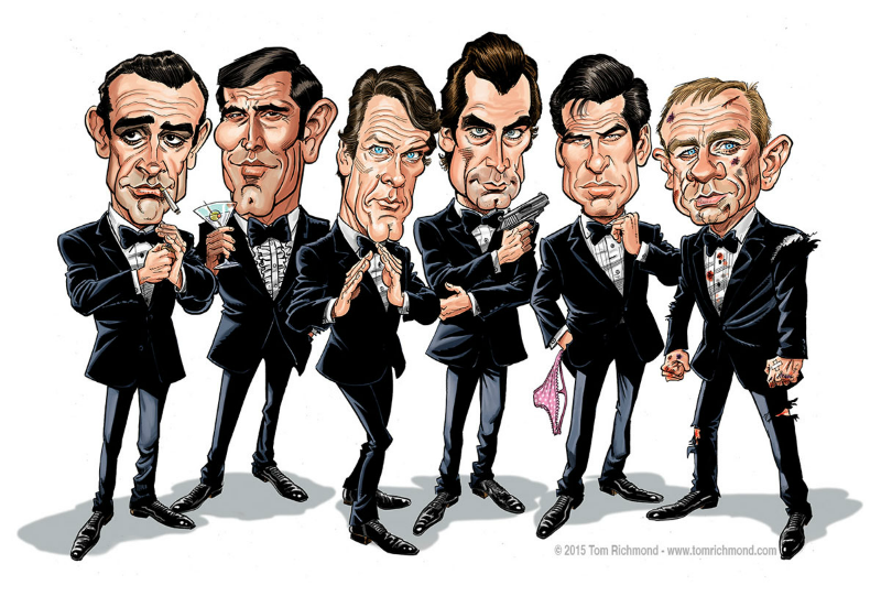 James Bond Illustration by Tom Richmond
