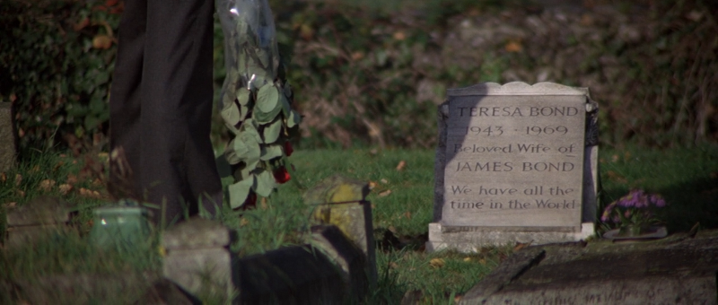 James Bond visits his wife's grave in For Your Eyes Only (1981)