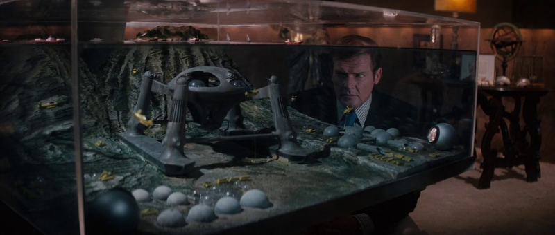 Stromberg's Atlantis lair scale model in The Spy Who Loved Me (1979)