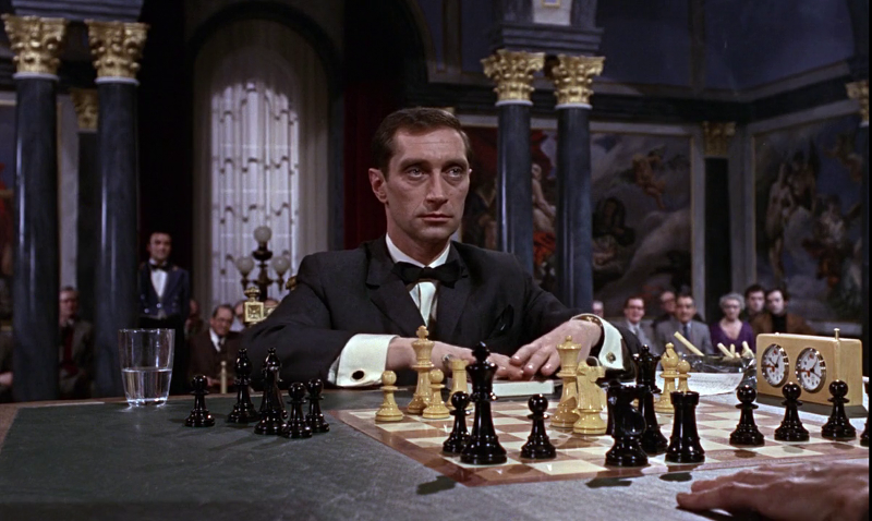 Kronsteen is summoned by SPECTRE during his chess match in From Russia With Love (1963)