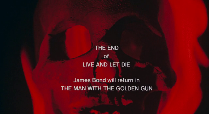 The end of Live And Let Die (1973)