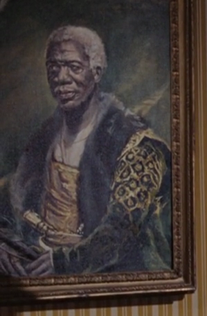 Samuel L. Jackson painting in Live And Let Die (1973)