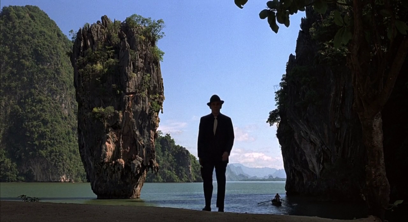"Opening scene of The Man With The Golden Gun (1974), set on Khao Phing Kan, Thailand - ""James Bond Island"""
