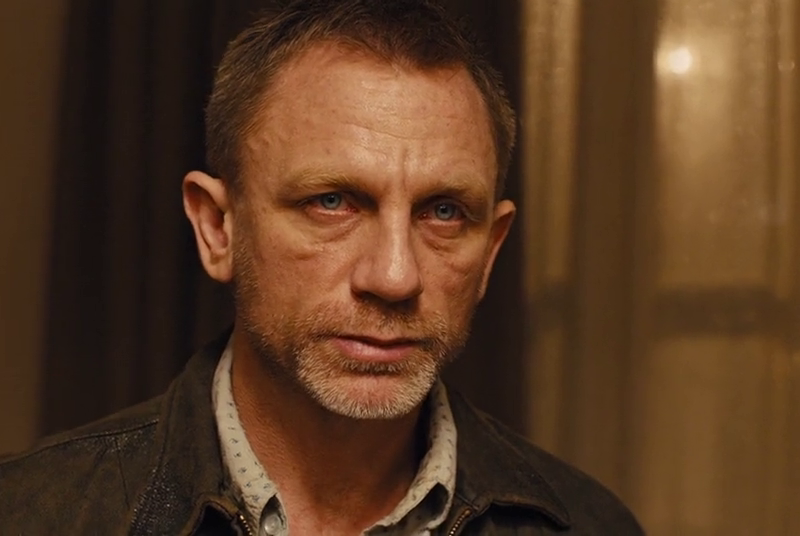 Daniel Craig needed a shave and a shower as a hungover mess in Skyfall (2012)