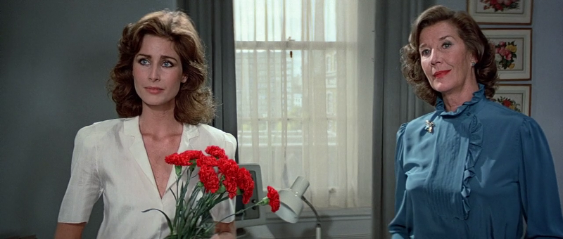 Michaela Clavell as Penelope Smallbone and Lois Maxwell as Moneypenny in Octopussy (1983)