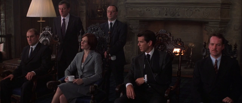 Pierce Brosnan as James Bond and presumably other 00 agents in The World Is Not Enough (1999)