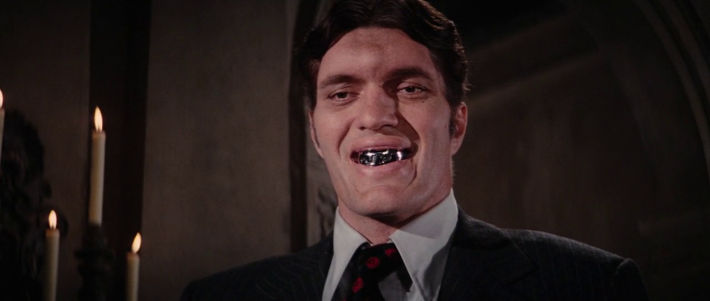 Richard Kiel as Jaws smiles in The Spy Who Loved Me (1977)