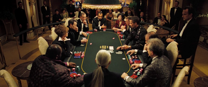 Overview of the poker table in Casino Royale (2006)