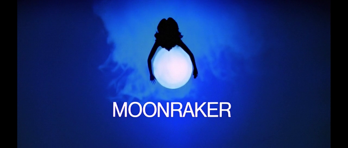 The title card from Moonraker (1979)