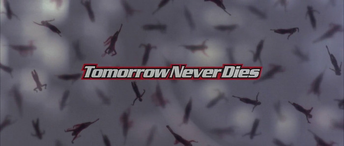 The Tomorrow Never Dies opening title card