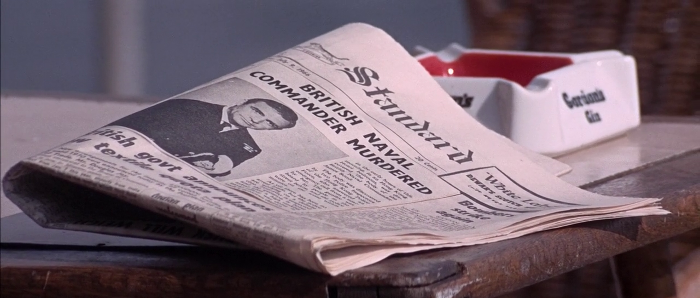 A headline announcing James Bond's death is seen in a newspaper in You Only Live Twice (1967)