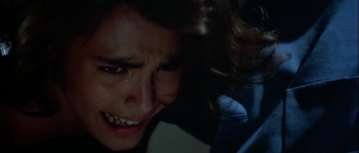 Lupe Lamora (Talisa Soto) is whipped by Franz Sanchez in Licence To Kill (1989)