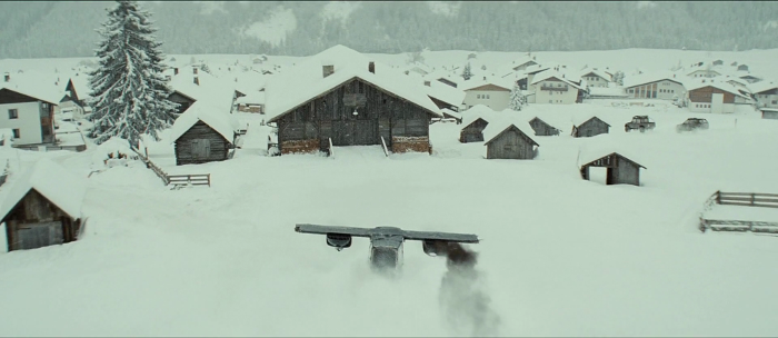 James Bond's plane at the end of the chase in Spectre (2015) hardly looked like a plane or something that was remotely believable.
