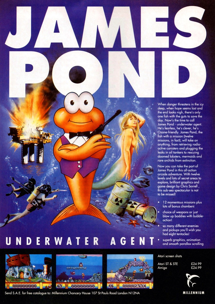 The 1990 Electronic Arts video game James Pond