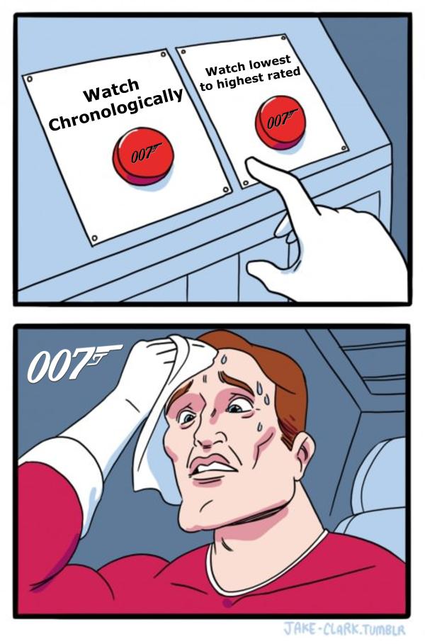 The Daily Struggle meme takes on the James Bond movies