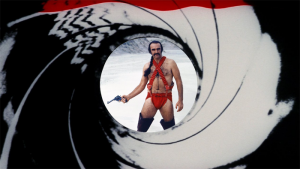Sean Connery's second post-James Bond role found him in Zardoz () with this ridiculous outfit as Zed...you were too distracted by it and have been shot!