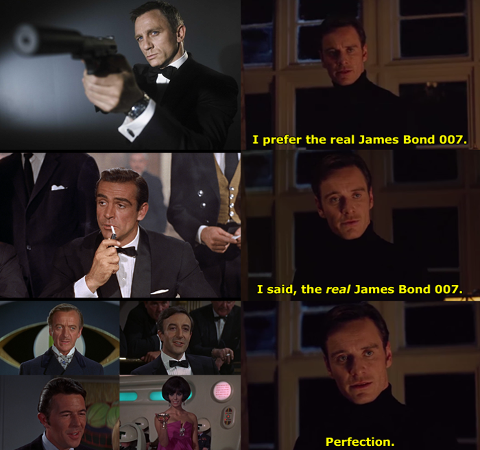 "Professor X in the ""Perfection"" meme prefers the *real* James Bond 007."